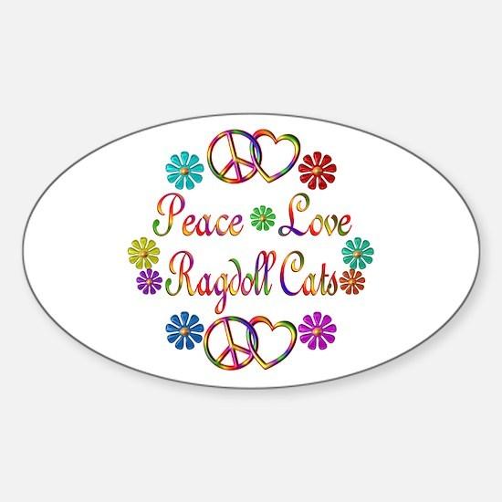 Ragdoll Cats Sticker (Oval)