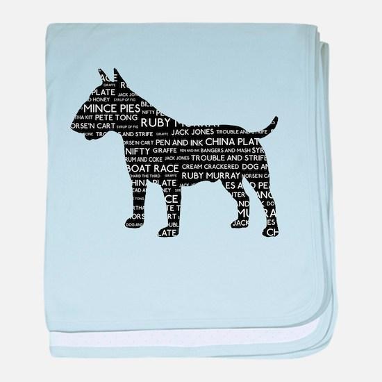 Vintage London Slang Bull Terrier Black baby blank