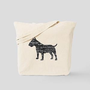 Vintage London Slang Bull Terrier Black Tote Bag