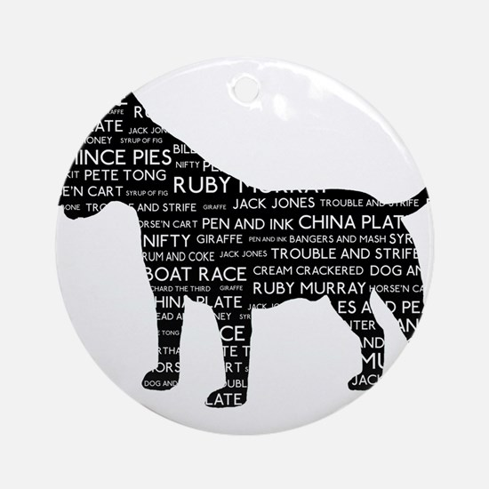 Vintage London Slang Bull Terrier Black Ornament (
