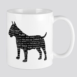 Vintage London Slang Bull Terrier Black Mug