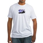 WendyIsdell.com Moon-Tree Banner Fitted T-Shirt