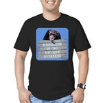 Marriage Monkey Business (Blue) Men's Fitted T-Shi
