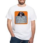 Marriage Monkey Business (Orange) White T-Shirt
