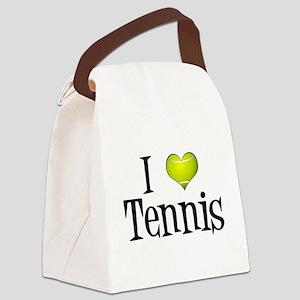 I Heart Tennis Canvas Lunch Bag