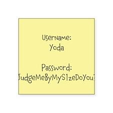 Yodas Password Square Sticker 3