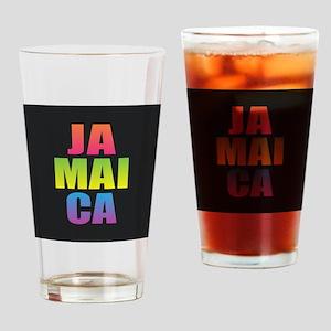 Jamaica Black Rainbow Drinking Glass