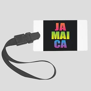 Jamaica Black Rainbow Large Luggage Tag