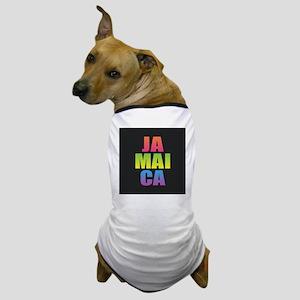 Jamaica Black Rainbow Dog T-Shirt