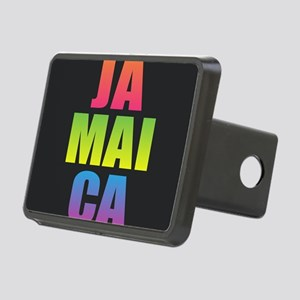 Jamaica Black Rainbow Rectangular Hitch Cover