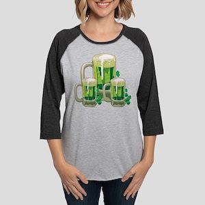 Green Beer Womens Baseball Tee