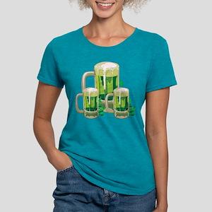 Green Beer Womens Tri-blend T-Shirt