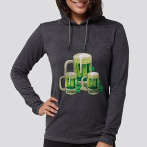 Green Beer Womens Hooded Shirt