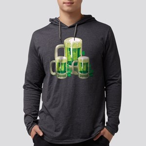 Green Beer Mens Hooded Shirt