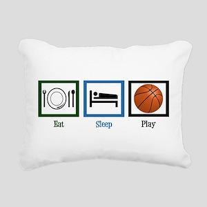 Eat Sleep Basketball Rectangular Canvas Pillow