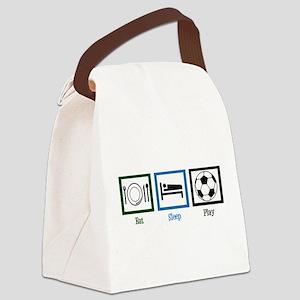 Eat Sleep Soccer Canvas Lunch Bag