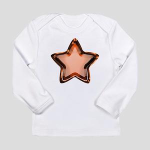 Orange Star Long Sleeve Infant T-Shirt