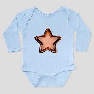Orange Star Long Sleeve Infant Bodysuit