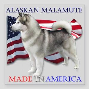 "Made in America Square Car Magnet 3"" x 3&"