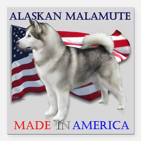 "Made in America Square Car Magnet 3"" x 3&"