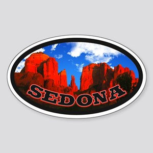 Sedona Desert Circle Sticker (Oval)