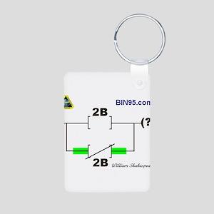 2Bnot2B Ladder Logic Aluminum Photo Keychain