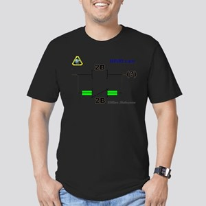 2Bnot2B Ladder Logic Men's Fitted T-Shirt (dark)