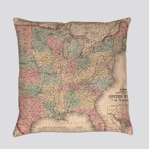 Vintage United States Map (1859) Everyday Pillow