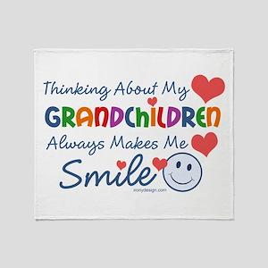 I Love My Grandchildren Throw Blanket
