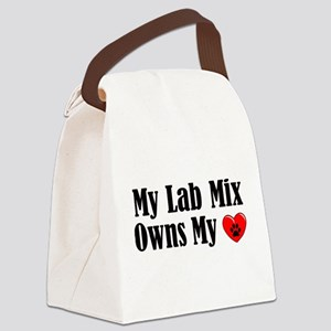 Heart Owning Lab Mix Canvas Lunch Bag