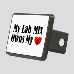 Heart Owning Lab Mix Rectangular Hitch Cover