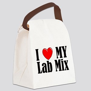 I Love My Lab Mix Canvas Lunch Bag