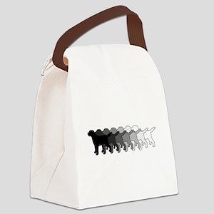 Gradient Labradors Canvas Lunch Bag