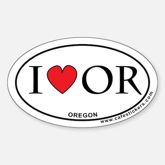 I Love Oregon Decal