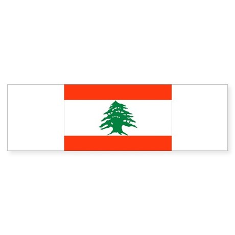 Lebanon flag, Bumper Sticker