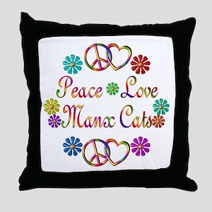 Manx Cats Throw Pillow