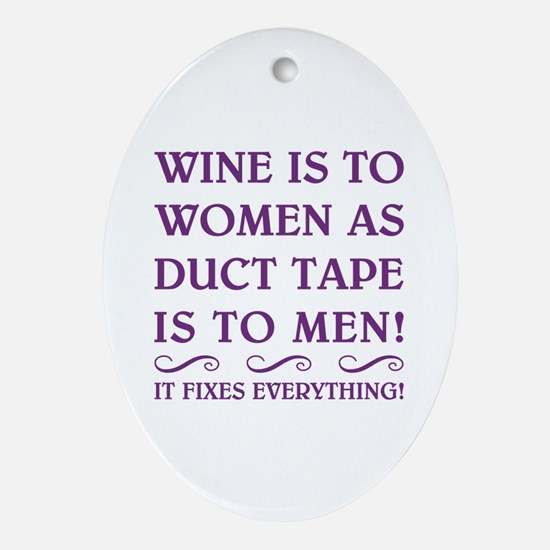 WINE IS... Ornament (Oval)