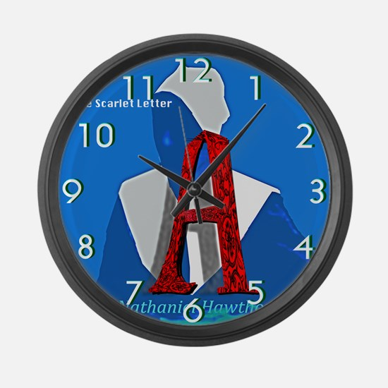 The Scarlet Letter Large Wall Clock