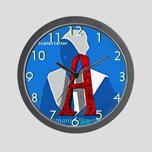 The Scarlet Letter Wall Clock
