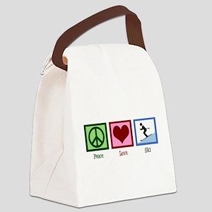 Peace Love Ski Canvas Lunch Bag