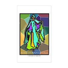 Psalms 30, Joyful Dance Sticker (Rectangle)