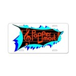 Poppermost Breakthru Aluminum License Plate