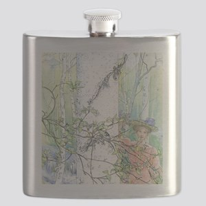 spring by Carl Larsson Flask