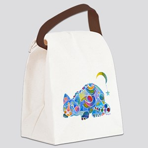 Cat of Moon and Stars Canvas Lunch Bag