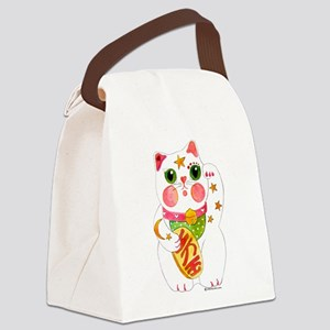 CatBeckoningOr Canvas Lunch Bag
