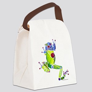 Frog Spring Green Canvas Lunch Bag