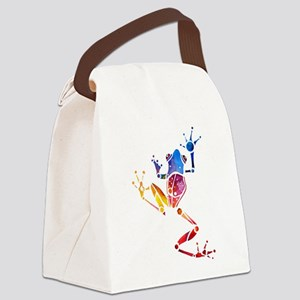 FrogCafe4Black.png Canvas Lunch Bag