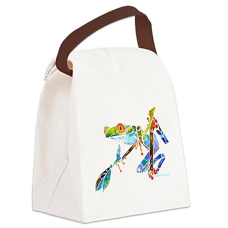 Frog0014CafeZ Canvas Lunch Bag