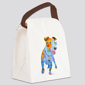 Jack Russell Terrier Many Colors Canvas Lunch Bag
