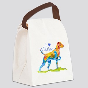 I LOVE HUNGARIAN VIZSLAS GIFT Canvas Lunch Bag
